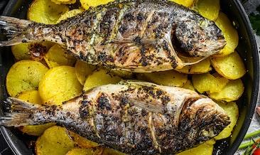 Рецепта за печена ципура с картофи