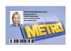 Blaue Kundenkarte