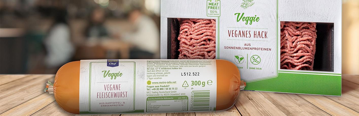 METRO Chef Veganes Hack und Vegane Fleischwurst