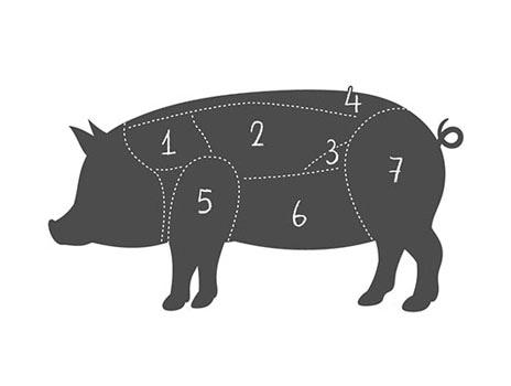 Zuschnitt Schwein