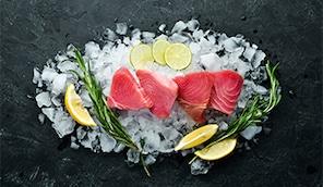 Thunfisch, Würfel Sashimi