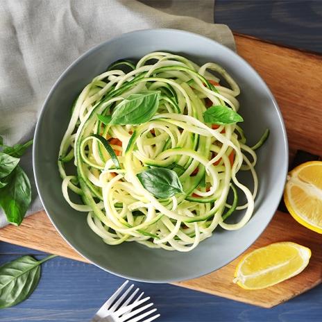 Die Zucchini als Nudel