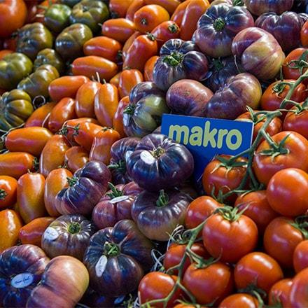 Tomates en la tiendas Makro