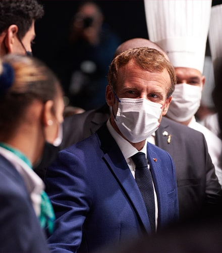 Emmanuel Macron au SIRHA 2021