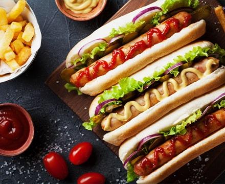 Hotdogs et frites