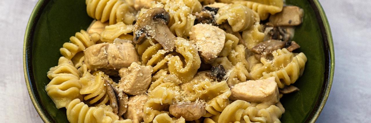 Recette - Pastasotto poulet et champignons