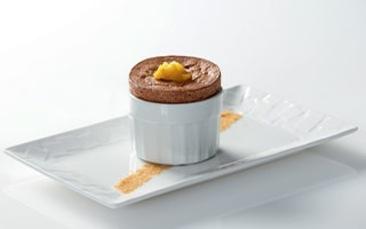 Recette de chefs   Soufflé chocolat-mangue