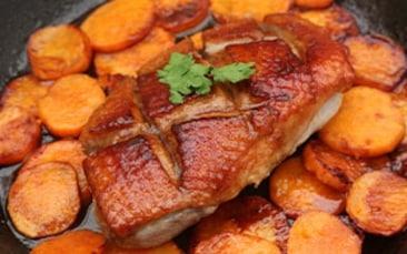 Recettes de chefs | Le magret de canard patates douces