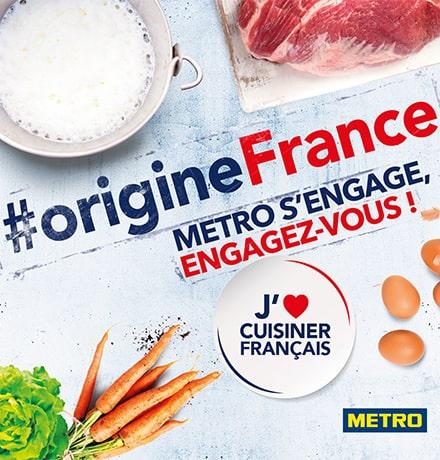 #OrigineFrance, METRO s'engage