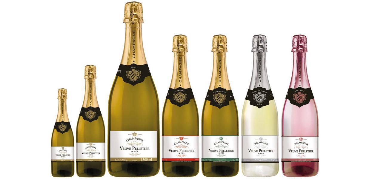 Différents formats de bouteilles de Champagne sont disponibles