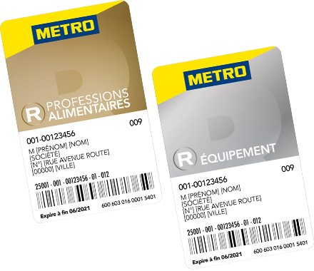 Les cartes METRO REFLEXE