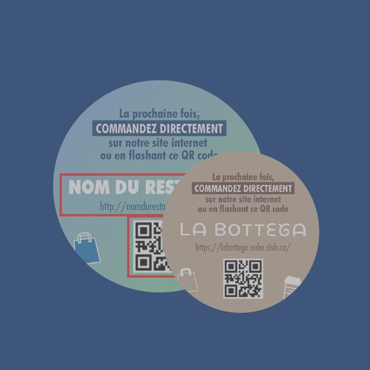 Kit marketing vente à emporter METRO - Stickers