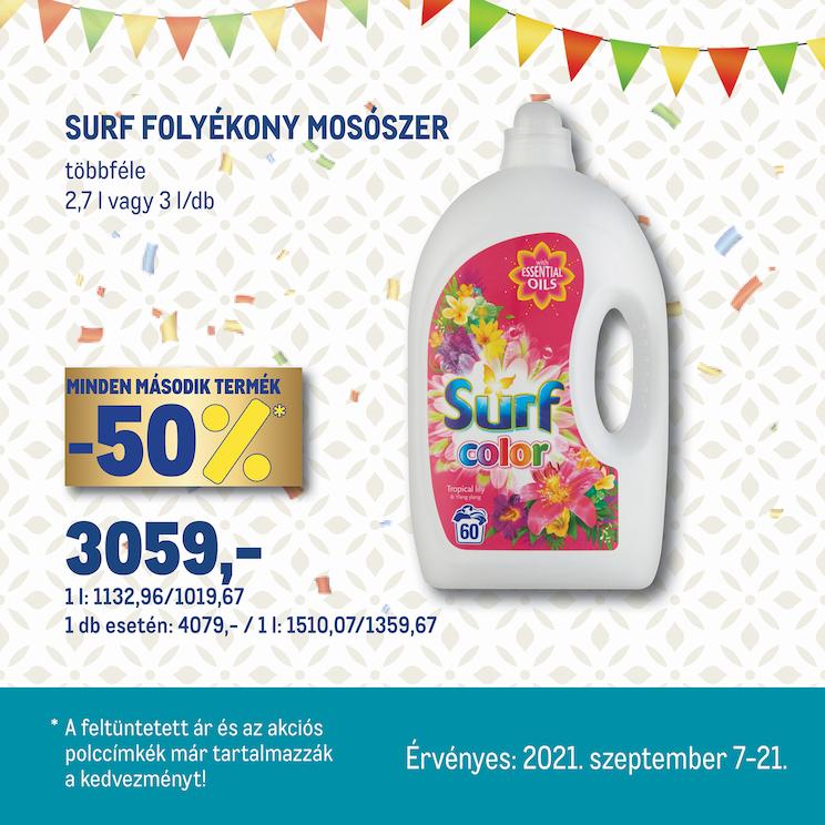Surf folyékony mosószer