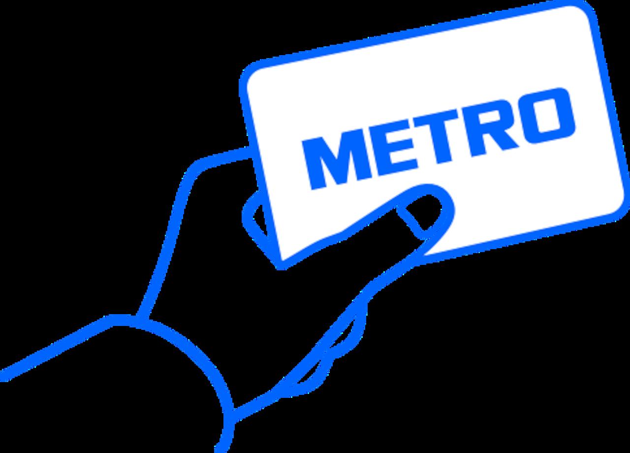 card fizic metro  (metro card)